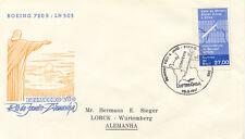 """2415 BRAZIL 1961 First Flight Lufthansa LH 503 """"RIO DE JANEIRO - FRANKFORT"""""""