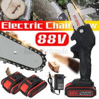 88V/288V 1000W/1080W/1500W Electric Cordless Chainsaw Wood Cutter One-Hand Saw