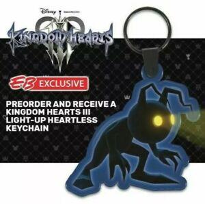 Kingdom Hearts 3 Preorder Bonus Light Up Heartless Keyring
