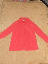 Petite Sophisticate Womens Top Salmon Button Up Dress Shirt Blouse Size P