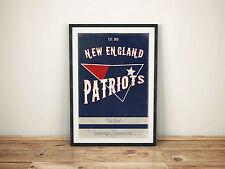New England Patriots A3 PHOTO Art Poster rétro style vintage imprimé