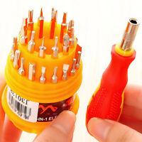 31 in1 Multifunction Mini Screwdriver Set MAGNETIC Computer Repair Kit Torx Tool