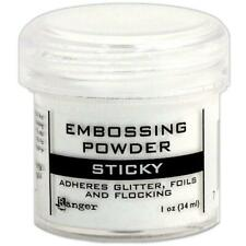 Ranger Sticky Embossing Powder - Adheres Glitter, Foil and Flocking