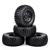4pcs 1/10th Scale RC Short Course Truck Off Road Rubber Tyre and Wheel Rims set