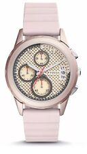 *BRAND NEW* Fossil Women's Pink Chronograph Silicone Quartz Analog Watch ES4172