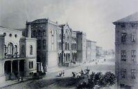 DAS MUSEUM FÜR KUNST UND WISSENSCHAFT HANNOVER Stahlstich 1850  von G.M. Kurz