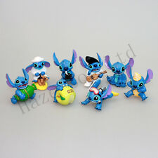 "8pcs Lilo & Stitch Small Toy Collection Figure ""Elvis"" Figures New"