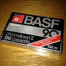 NUOVO ORIGINALE VINTAGE BASF 90 HIFI STEREO chromdioxide vuoto AUDIO CASSETTA TAPE