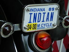 INDIAN Vintage License Plate Frame of the 40s as nos STAINLESS STEEL Chief Scout