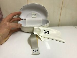 Dolce and Gabbana D & G white glasses Case Original Set Unisex Fashion Design