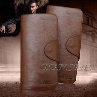Luxury Men Leather CreditCard Holder Billfold Long Wallet Purse Checkbook Clutch