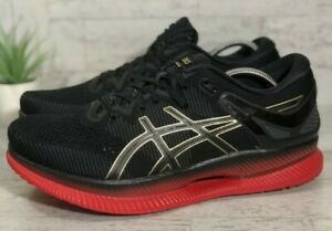 ASICS Men's MetaRide Size 11.5 Running Shoe Black Classic Red 1011A142 001