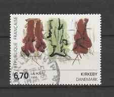 Tableau art contemporain oeuvre de Kirkeby timbre oblitéré YT 2969 année 1995