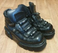 NEW ROCK BOOTS AND SHOES BLACK LEATHER HEAVY BOOTS EURO SIZE 42 UK SIZE 8