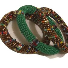 3 pack Fair Trade kenya New African Jewelry Maasai Bangle Bracelet