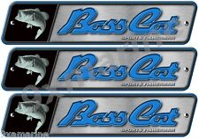 3 Bass Cat Boats Classic Vintage Decals Remastered.