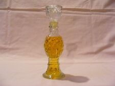 Avon Clear Cut Glass Candle Stick With Charisma Cologne