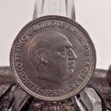 CIRCULATED 1957(60) 5 PESETA SPANISH COIN (80917)1