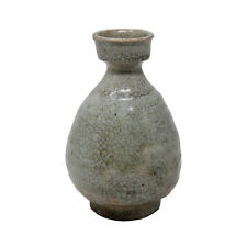 Korean Crackle-glazed Punch'ong Wine Bottle, Joseon Dynasty