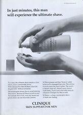 "Clinique Skin Supplies For Men ""Shave"" 1995 Magazine Advert #4048"