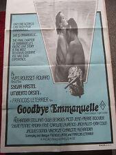Goodbye Emmanuelle (Sylvia Kristel) : Orig Australian one sheet : 1977
