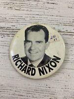 """3 1/2"""" Vote for President Richard M. Nixon Political Campaign Pin"""