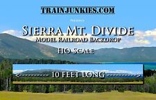 "TrainJunkies HO Scale ""Sierra Mountain Divide"" Model Railroad Backdrop 18x120"""