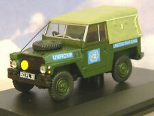 OXFORD 1/43 MILITARY LAND ROVER 1/2 TON LIGHTWEIGHT UNITED NATIONS UN 43LRL001