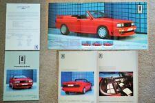 1983 1984 Treser Audi Quattro Roadster Convertible Cabriolet Brochure