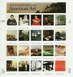 FOUR CENTURIES OF AMERICAN ART STAMP SHEET -- USA #3236 32 CENT ART