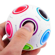 Funny Rainbow Magic Ball Plastic Cube Twist Puzzle Toys For Teenagers Adult CO