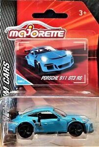 Majorette 2019 Porsche 911 GT3 RS Turquoise #209 Premium Cars New Long Card