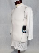 Nike Mens Hypercool Dri-Fit Max Pro Fitted Baseball 3/4 T shirt Tee Nwt white S