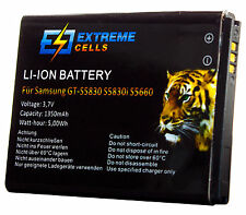 Extremecells Battery for Samsung Galaxy Ace Gio Young DuoS GT-S5830 S5830i S5660