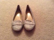 Silver  sparkle flats