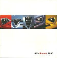 CATALOGUE PUBLICITAIRE GAMME ALFA ROMEO - 2000