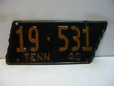 1940 Tennessee License Plate   19 - 531                Vintage as5161
