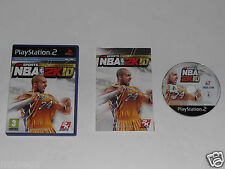 NBA 2K10 pour Playstation 2 TRÈS RARE & HARD TO FIND""