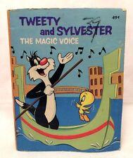 "Whitman 1976 Big Little Book Warner Bros Sylvester Tweety Magic Voice 4.75"""