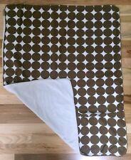 DWELL Baby Stroller Blanket Crib Quilt - Chocolate Dots - Original - 30 x 40