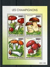 Guinea 2015 MNH Mushrooms 4v M/S Fungi Les Champignons Stamps