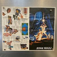 "RARE Kenner Star Wars Vintage Toy Advertisement ""$45 Cash Refunds"" Poster 1977"