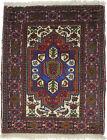 Vintage Style Multicolor Floral Design 2X2'4 Oriental Rug Handmade Small Carpet