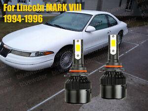 LED For MARK VIII 1994-1996 Headlight Kit 9005 HB3 White CREE Bulbs Low Beam