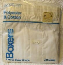 NEW 3 Pair Vintage Mens Boxer Brief Shorts Underwear 3 JCPenney NOS 70's