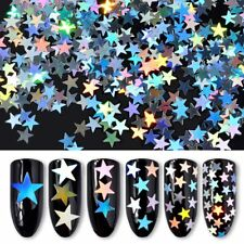 6 Nail Art Decoration Star Hexagon Rainbow Glitter Ultra Thin Sequins Foil DIY