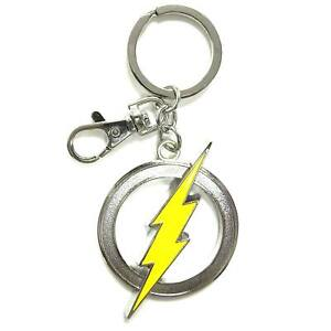 DC Comics The Flash Emblem Pewter Metal Keychain NEW IN STOCK