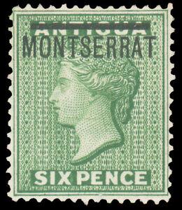 Montserrat #2 MHR CV$75.00 1876 6p GREEN