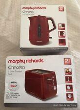 Morphy Richards Chroma Kettle & 2 Slice Toaster Red (BNIB)