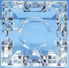 OLEG CASSINI Crystal Votive PYRAMID Candle Holder NEW CLEAR HEAVY GIFT BOX